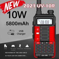 Baofeng المهنية WALLIE Talkie UV10R 128 Channels VHF UHF المزدوج الفرقة اتجاهين CB هام راديو Baofeng UV5R المحسن UV 10R