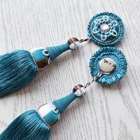 Tenda in stile europeo Piccolo pendente nappa ciondolo per la casa Tessile decorativo Divano decorativo perno Pin Ball Accessori in pizzo Altro arredamento
