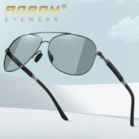 New 2021 Metal Polarized Discolored Sunglasses Mens and Womens Sunglasses Driving Aviator Glasses