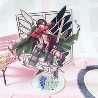 Anime Saldırı Titan Erwin Smith Akrilik Standı Kart Ekran Model Plaka Dekor Oyuncak Cosplay Öğrenci Noel Hayranları Hediye Anahtarlık Anahtarlıklar