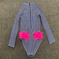 Niñas traje de baño de una pieza lindo bebé traje de baño a rayas cómodas bikinies casuales un animal patrón conjunto niños traje simplicidad nadar 1830 z2