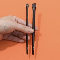 Makeup Brushes 1pc Super Thin Angled Liner Make Up Brush Eye Brow Synthetic Hair Fine Eyebrow Sharp Cosmetic Tools Professional