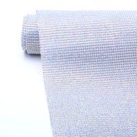 Best quality bling bling mesh sheet rhinestone Sliver + crystal ab hot fix sheet for fabric GBC-5
