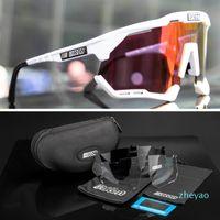 Gafas de sol polarizadas deportivas Protección de seguridad Eyewear UV400 Gafas de ciclismo Pesca de bicicletas Gafas de pesca Hombres Mujeres Bicicleta de carretera a prueba de viento con estuche