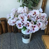 Dekorative Blumen Kränze Künstliche 11 Zoll Pansiys Seide Gefälschte Schmetterling Orchidee Blume Home Büro Hochzeitsdekoration