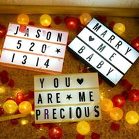 Night Lights LED Combination Light Box Table Desk Lamp DIY Letters Symbol Cards Decor USB/Battery Powered Letter Message Board