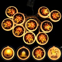 حزب الديكور رمضان مون ستار أدى سلسلة أضواء الأضواء العيد مبارك ديكور للمنزل الإسلام مسلم الحدث لوازم الفطر FWD9336