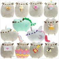 Cat Angel Cake Cookie Icecream Egg Pizza Doughnut Rainbow Sushi Dinosaur Dino Moon Cat 15CM Plush Doll Stuffed Best Gift Soft Toy HHA5306