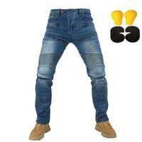 Jeans masculinos 718 719 calças motocicletas homens moto engrenagem protetora montando moto calças motocross