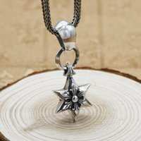 vintage style 925 sterling silver handmade designer jewlery American European antique silver six pointed star pendants for necklaces women's