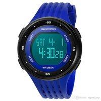Multifunktionsmode Junge Elektronische Uhr Luxus Leuchtende LED Digital Sport Armbanduhr Männer Student Silikon Strap Casualuhren