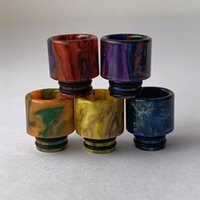 DHL 510 Thread Epoxy Resin Drip Tips Ecig Vape Tip Big Baby Rebuildable Tank With Candy Acrylic Box Package