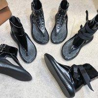 Гладиатор подошвы женские сандалии дизайнерские моды заклепки кожаные туфли высокой роскошной 100% настоящий пляж Rome резина XDije