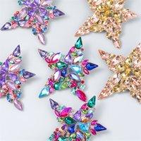 Dangle Chandelier Marca Moda 2021 Grandes pendientes de gota estrella brillante exagerada para las mujeres GRANDE RHINESTONE METAL DIRECTOR REGALO C3