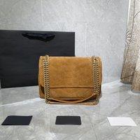 Сумка женщин роскоши дизайнеры сумки 2021 кошельки сумки кошелек плеча цепь цепи классические кожаные моды ретро матовый металл y ** символ украшения 28 * 20 * 8