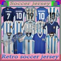 Maradona 1978 1986 레트로 아르헨티나 축구 유니폼 클래식 96 97 1994 1998 Newells 오래된 소년 빈티지 축구 셔츠 메시 리크 릴리스 Crespo Tevez Ortega Batistuta Kempes