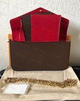 Luxurys дизайнеры моды с коробками кошелек сумки реальные кожаные кошельки женщин мужчин скрещивание цепочки вечера свободных кошельков подлинной сумки стиль леди