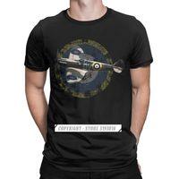 British Supermarine Spitfire Feal Flane T Рубашки мужские хлопковые футболки пилотные самолеты самолет тройки с коротким рукавом 210707