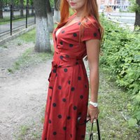 Lossky Summer Women Vintage Long Dress Casual Polka Dot Print Party Short Sleeve Dresses Sexy V-neck Fashion Woman Clothes y2k