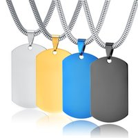 Armee Hundetiketten Anhänger für Männer Edelstahl leer leer gravable Haustier ID Tag Schalldämpfer Bling Anhänger Halskette Hersteller liefert