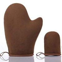 Nouvelle gant de bronzage avec le pouce pour les Tanners Tan Applicator Mitt for Spray Tan Beach Gants spéciaux BWE6157