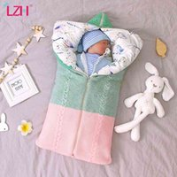 Newborn Baby Autumn Warm Sleeping Bags Infant Knit Swaddle Wrap Swaddling Stroller Wrap Baby Blanket Baby Boy Girl Sleeping Bags 210426