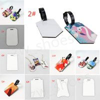blank luggage tags sublimation wooden pendants for suitcase heat transfer white tag DIY