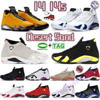 새로운 14S 남성 여성 농구 신발 천둥 검은 발가락 사막 모래 대학교 황금 하이퍼 로얄 챌린지 빨간색 인디 거스 스니커즈 망 트레이너 chaussures