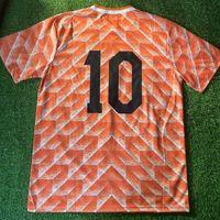 1988/1990 네덜란드 레트로 축구 유니폼 빈티지 반 Basten Gullit 10 Koeman Rijkaard Neeskens Krol 태국 품질 유니폼 축구 유니폼 셔츠 카메인 Futbol