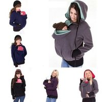 Carrier de maternité Porte-bébé Veste Mère Kangourou Sweats à capuche 122 Z2