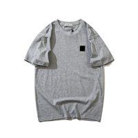 21ss Spring Island ricamato rotondo logo uomo donne casual t shirt manica corta tees 0321