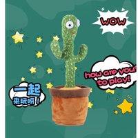 Home Decor Dancing Cactus Tiktok Lo stesso modello Fesvival Favorivale 120 Canzoni USB Dancer Speaker Repeat Say Talk Talking Baby Peluche Peluche Peluche per bambini Favori