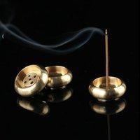 Cobre Incenso Burner Stick Titular Budismo Placa de Incenso Templos Estúdios de Yoga Estúdios de Yoga Home Decoração Atacado NHF6845