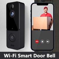 Doorbells T9 Wireless Waterproof Doorbell Smart Home Door Bell Security WIFI Visual Intercom Night Vision IP PIR Cameras