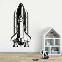Wall Stickers Rocket Home Livingroom Decoration For Children's Room Waterproof Decals Kids Bedroom Poster DW12012