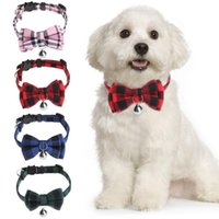 Cat Collars & Leads 1PC Adjustable Kitten Collar Puppy Pet Supplies Grid With Bell Buckle Collier Kittens