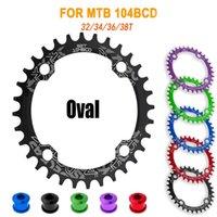 자전거 프리 휠 체인 휠 104BCD 타원형 체인 휠 좁은 넓은 체인 링 MTB 볼트 마운틴 자전거 32T 34T 36T 38T 크랭크 세트 싱글 치아