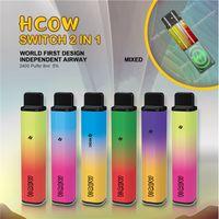 100% Hcow Switch Cube Dual Disposable E Cigarette 2in1 Vape Stick 5% 8ml Pod Vapes BANG XXL