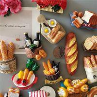 Buzdolabı Mıknatıslar 5 satın almak 1 taklit mutfak dekorasyon simülasyon süt yumurta ekmek buzdolabı manyetik çıkartmalar EWD7877