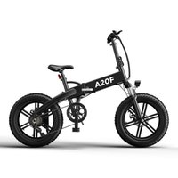 [EU Stock, No Tax] ADO A20F Electric Bike 500W 20 Inches Fat Tire ebike Brushless Motor Foldable Electric Bicycle 36V 10.4Ah Lithium Ion Battery Ebike