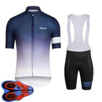 Rapha equipo transpirable para hombre ciclismo de manga corta jersey pantalones cortos de babero conjunto Ropa Ciclismo Maillot MTB Ropa para bicicletas Trajes de carreras Uniforme de bicicleta al aire libre S21041411