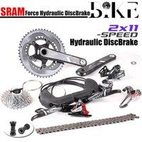 Bike Derailleurs FORCE 22 2x11 Speed 50x34T 53x39T 46x36 170mm 172.5mm Carbon Road Bicycle Groupset Kit Hydraulic Disc Brake GXP PF