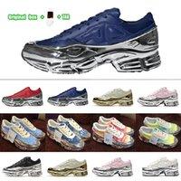 [Original Box + Socks + Tag] 특혜 실행 신발 Ozweego 3 x Raf Simons 트레일 할로윈 레트로 백인 남성과 여성 액체 실버 미러 우유 거품 스니커즈가 추가되었습니다.