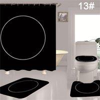 أزياء إلكتروني دش ستارة للماء بلون الطباعة المرحاض غطاء المرحاض الفانيلا وسادة 4 قطع مجموعة أدوات المنزل