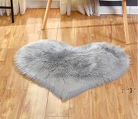 Plush Area Rugs Lovely Peach Heart Carpet Home Textile Multifunctional Living Room Heart-shaped Anti Slip Floor Mat BWA9237