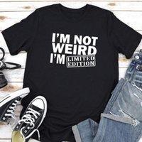 IM Женские футболки не странные буквы печати женщины с коротким рукавом o шея свободные летние тройники топы камиссетас мохеру
