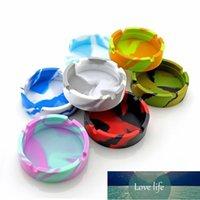 Silicone Soft Round Ashtray Ash Tray Holder Luminous Portable Anti-scalding Cigarette Holder Multicolor Eco-Friendly