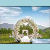 Decorative Flowers Wreaths Festive Party Supplies & Garden1 Meter Long Artificial Simation Cherry Blossom Flower Bouquet Wedding Arch Decora