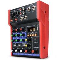 Karaoke Soundkarte Bluetooth Bühne Home KTV USB 5V Mini Mixer Musik Tragbare DJ Console Studio Live Performance Karten