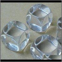Жарец 19 мм Кристалл Пустые кубики DIY Прозрачные кубики Игра Детская вечеринка Игры Игрушка Прозрачный Бозон Смешные Кубы Хорошая цена Высокое Качество B10 ND7 ZOXJQ